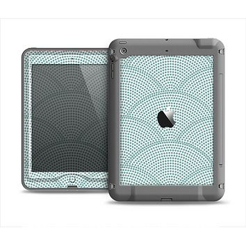 The Teal Circle Polka Pattern Apple iPad Mini LifeProof Nuud Case Skin Set