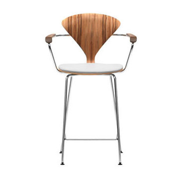 cherner stool w/arms - upholstered seat