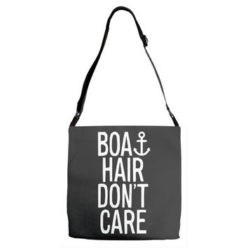 boat hair don't care Adjustable Strap Totes