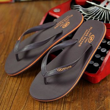 Hot 2016 Men's Flip Flops Rubber Male Slippers Summer Fashion Beach Sandals Shoes for Man High Quality plus size Eur :39-44