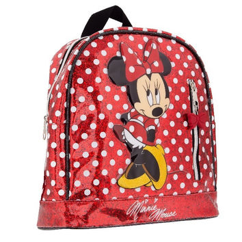 Disney Parks Minnie Mouse Dot Glitter Backpack New with Tag