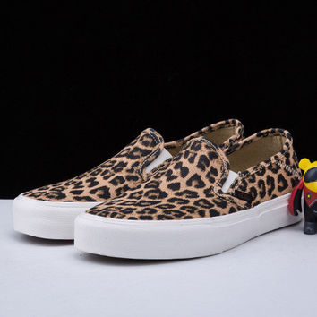 Trendsetter VANS Leopard Print Old Skool Canvas Flats Shoes Sneakers Sport Shoes