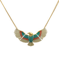 Tri-tone Allegiance Eagle Necklace