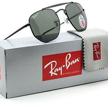 Ray-Ban RB3648 Marshal Polarized Metal Sunglasses Black 002/58 - 51