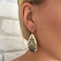 Namaste Gold Teardrop Earrings