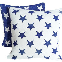 Americana Country Throw Pillows Stars on by PillowThrowDecor