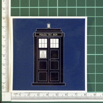 Doctor Who Tardis Police Box Phone Booth Time Machine Sticker Decal