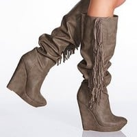 Fringe Wedge Boot - Colin Stuart - Victoria's Secret