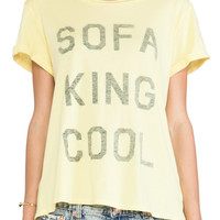 Local Celebrity Schiffer Sofa King Tee in Lemon