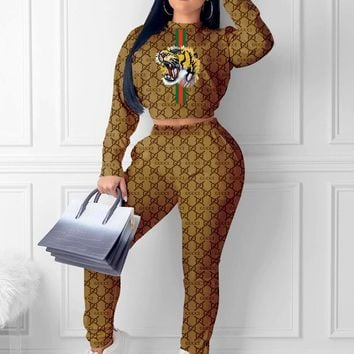 GUCCI women's letter print sexy two-piece
