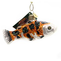 Old World Christmas KOI Glass Ornament Pond Garden Fish 12259 Orange