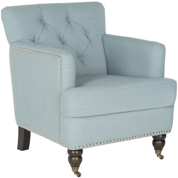 Colin Tufted Club Chair Sky Blue