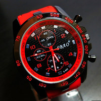 Korean Casual Men Watch Silicone Watch Quartz Watch [6049437825]