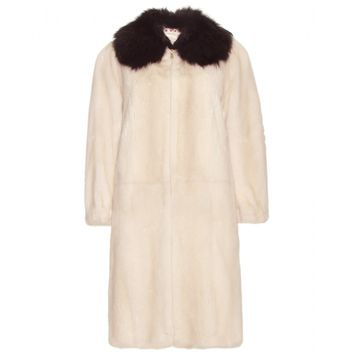 marni - mink and fox fur coat