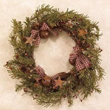 "18"" Primitive Christmas Wreath"