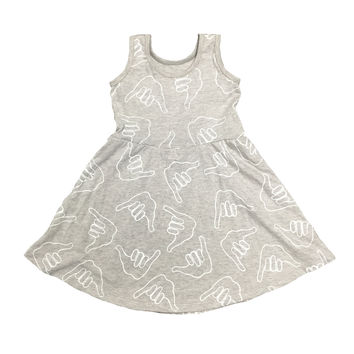 Kid's Shaka Dress Heather Grey