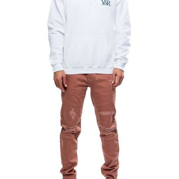 Straight Up Hoodie- White