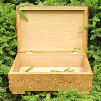 Large handmade unique unusual interesting author's gift ideas wood jewelry box