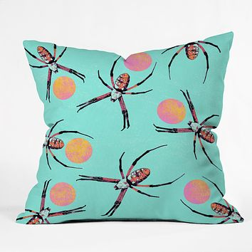 Elisabeth Fredriksson Spiders 3 v2 Throw Pillow