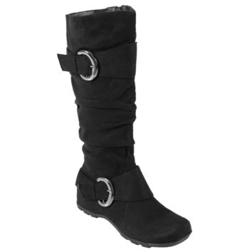 Journee Collection Women's 'Jester-01' Regular and Wide-calf Slouch Buckle Boot | Overstock.com Shopping - The Best Deals on Boots