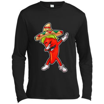 Chili Dabbing Pepper Mexican Hot Jalapeno Dab Gifts Long Sleeve Moisture Absorbing Shirt
