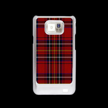 Scottish Red Plaid Samsung Galaxy S2 case, i9100 cover, Samsung Galaxy SII cover, hard case
