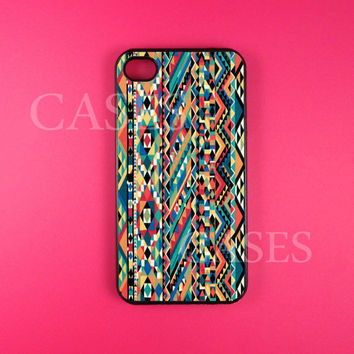 Iphone 4 Case, Aztec Iphone 4s Case Cover, Unique Native Tribal Iphone Cases, Snap On Rubber or Hard Plastic Case