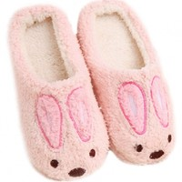 Lovely Rabbit Closed Toe Terry Woman Slippers - OASAP.com