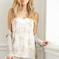 Rose Print Cami PJ Set