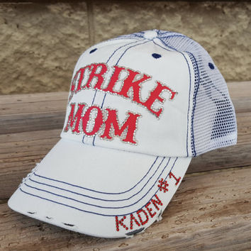 Bling Baseball Mom Hats, Custom Baseball and Softball Team Hats
