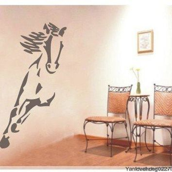 Running Horse Wall Sticker Steed Home Decor Animal TV Sofa Sport Background Door Gallops Desk Fashion DIY Waterproof Removable