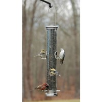 SheilaShrubs.com: Seed Tube Large Brushed Nickel Quick Clean Base ASPECTS393 by Aspects : Bird Seed Feeders