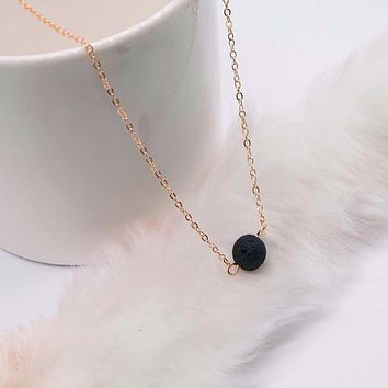 Arrival Simulated Black Pearl Pendant Necklace For Women Golden Color Simple Chain Necklace Fashion Jewelry