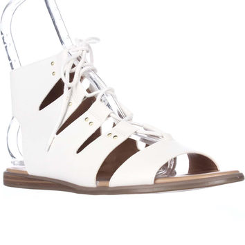 Tommy Hilfiger Beautie Lace Up Gladiator Sandals - White