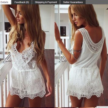 Fashion sexy lace dress in summer
