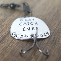 Best Catch Ever Fishing Lure Personalized Fishing Gift Personalized Fishing Lure Wedding Groom Gift Fishing Gift Fisherman Copper