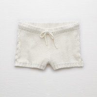 Aerie Cable Sweater Short , Soft Muslin