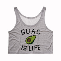 Guacamole is Life Tank Top Crop