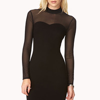 FOREVER 21 Posh High-Neck Dress Black