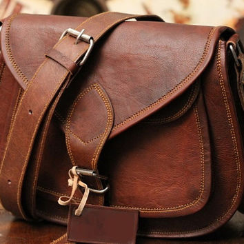 Rustic Leather Shoulder Bag Women Satchel Handbag Diaper Ba Macbook Bag Travel Purse