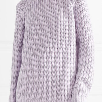 Michael Kors Collection - Ribbed cashmere and linen-blend sweater