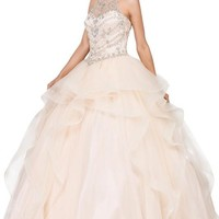 Quinceanera dress with ruffles  Dq1279