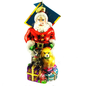 Christopher Radko Four Footed Friend Glass Ornament