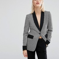 Fashion Union Dogtooth Blazer Co-Ord at asos.com