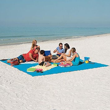 Sand Proof Beach Mat and Picnic Blanket Fast Drying and Easy to Clean