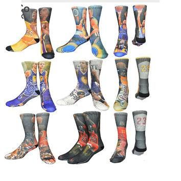 Socks with MICHAEL JORDAN , LEBRON JAMES, KOBE BRYANT , PAUL GRIFFIN, PRINTED ON ( 1