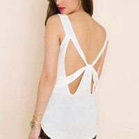 Bow Down Tank - Ivory in Clothes at Nasty Gal