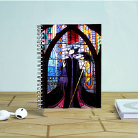 Maleficent In Stained Glass Photo Notebook Auroid