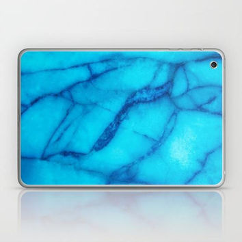 Marble Collection: Turquoise Blue Marble iPad Skin, Blue Marble iPad Mini Skin, Blue Marble Texture iPad Sticker, Turquoise iPad Mini Skin