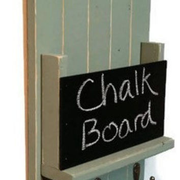 Melbourne Mail Organizer and Key Rack with Chalkboard
